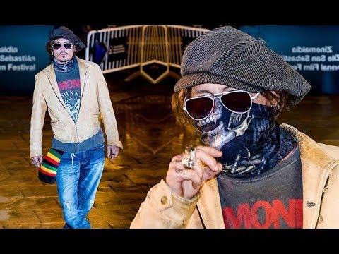 Johnny Depp arrives at theSan Sebastian International Film Festival