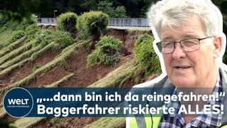 FLUTDRAMA: Baggerfahrer wird zum Helden! Dieser Mann riskierte sein LEBEN an der Steinbachtalsperre