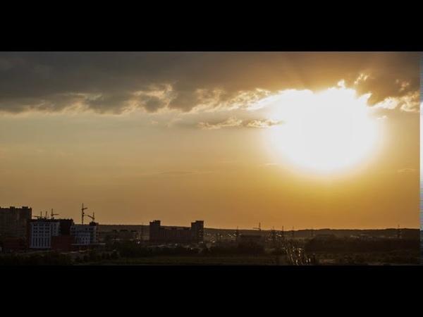 Закат на проспекте Российском Ставрополь ТаймЛапс