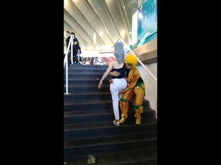 DIO Stops Polnareff From Going Up The Stairs