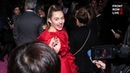 Miley Cyrus Arrives at 'Isn't It Romantic' Hollywood Premiere