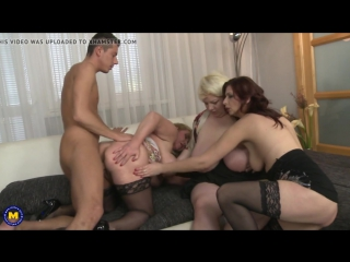 Dream team of 3 mature moms sharing son s cock_hd