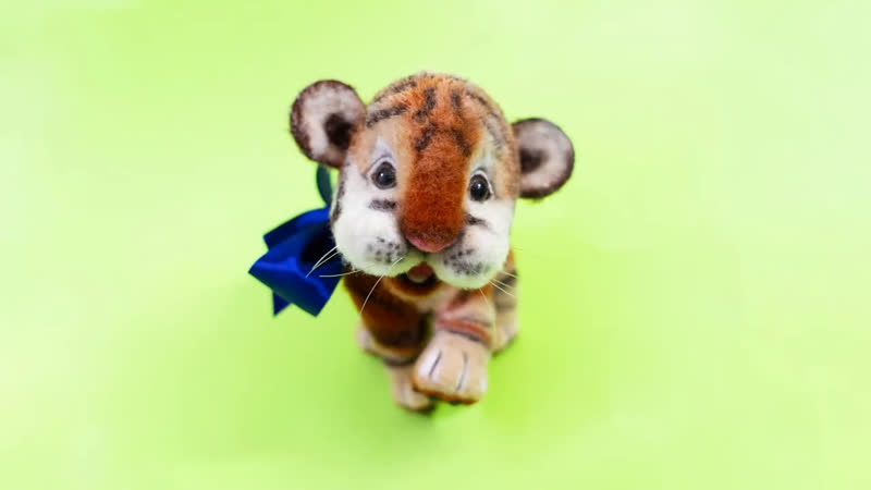 Мастер класс Валяем озорного тигренка от elenatolstaya