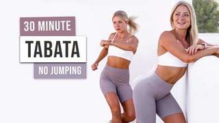 30 MIN LOW IMPACT Full Body Tabata Workout - No Equipment, No Jumping - Knee Friendly exercises