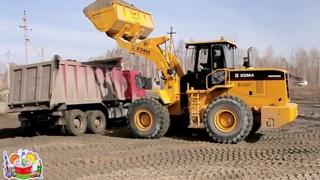 Транспорт и спецтехника, строительные машины. Развивающее видео для детей.