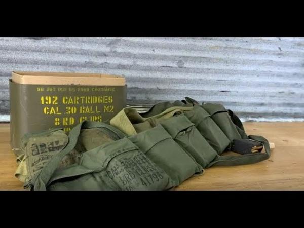 Opening 40 year old military m1 Garand ammunition