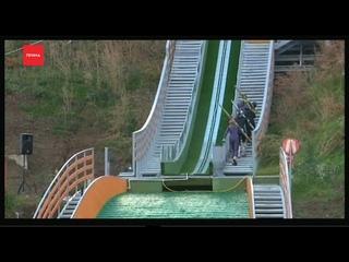 Два новых лыжных трамплина открыли сегодня на Сопке
