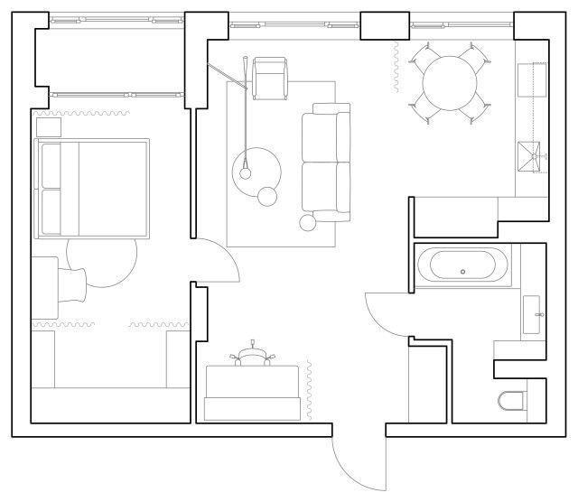 Минималистичная квартира для молодой пары в Киеве по проекту Ater.