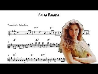 Eliane Elias - Falsa Baiana (Solo Transcription)