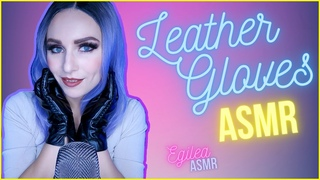 ASMR Leather Gloves hands movements, Squishy, Crinkly glove sound with black leather. (No Talking)