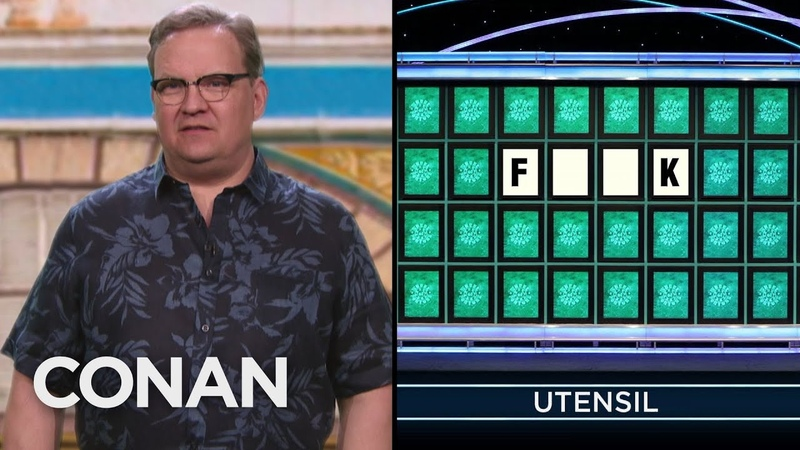 "Andy's Wildly Inappropriate Wheel Of Fortune"" Guesses CONAN on TBS"