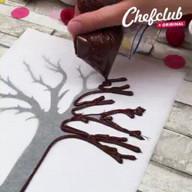 id_18862 Яблочно-шоколадный открытый пирог 🍎🍫  Автор: Chef Club  #gif@bon