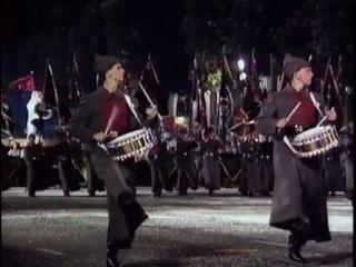 Советские ансамбли на параде в Париже 14 июля 1989 г.