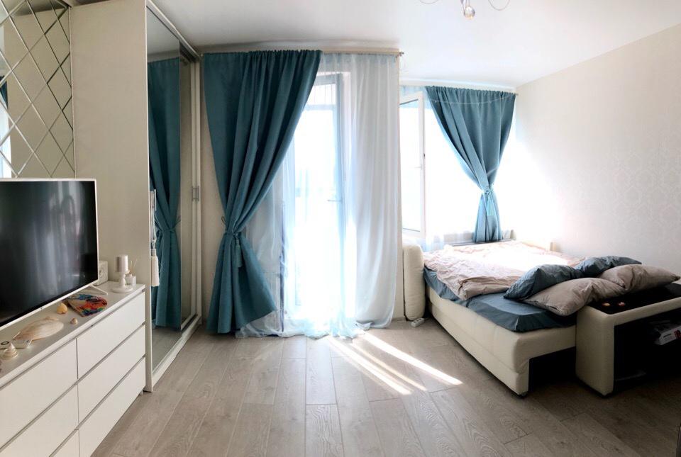 Квартира студия 29,9 м кв, жилая 24 м.