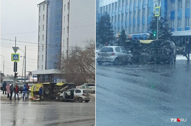 В Тюмени сегодня около 10:30 на перекрестке улиц Пермякова и Энергетиков столкну...
