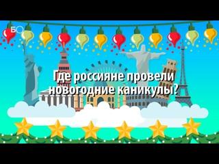 Инфографика — где россияне провели новогодние каникулы