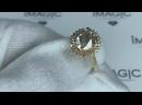 Лот 2. Кольцо с бриллиантами 3,29 карат, желтое золото