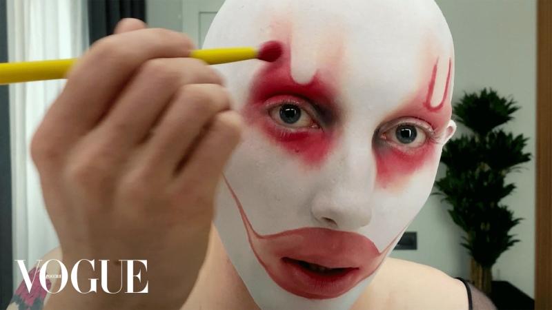 Gena Marvin показывает свой арт макияж Vogue Россия