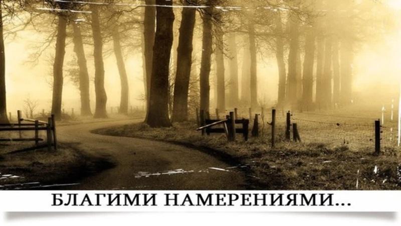 Благими намерениями вымощена дорога в ад Осипов Алексей Ильич