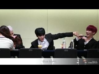 [VK][171112] MONSTA X fancam (Wonho, Minhyuk & Jooheon focus) @ Gangnam Fansign