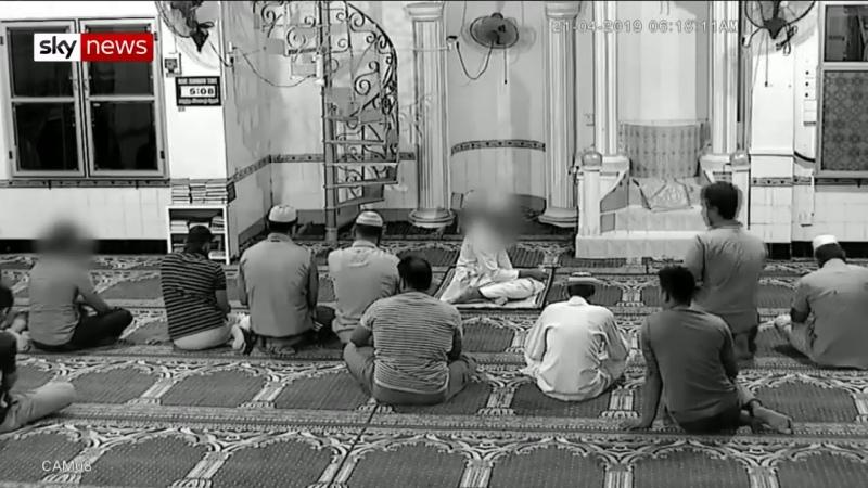 Sri Lanka en af terroristerne inden angrebet på Zion Church