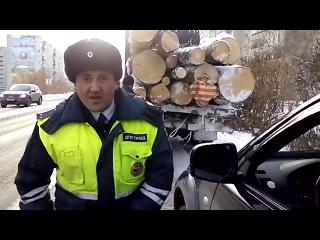 Башкирский гаишник на взводе, что его снимают на камеру...