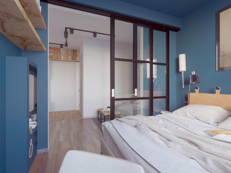 Проект квартиры 31 м (с лоджией - 33 м).