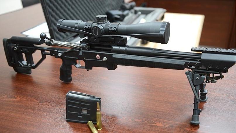 Снайперский комплекс Т-5000 ОРСИС в полном составе – винтовка, оптический прицел и патроны