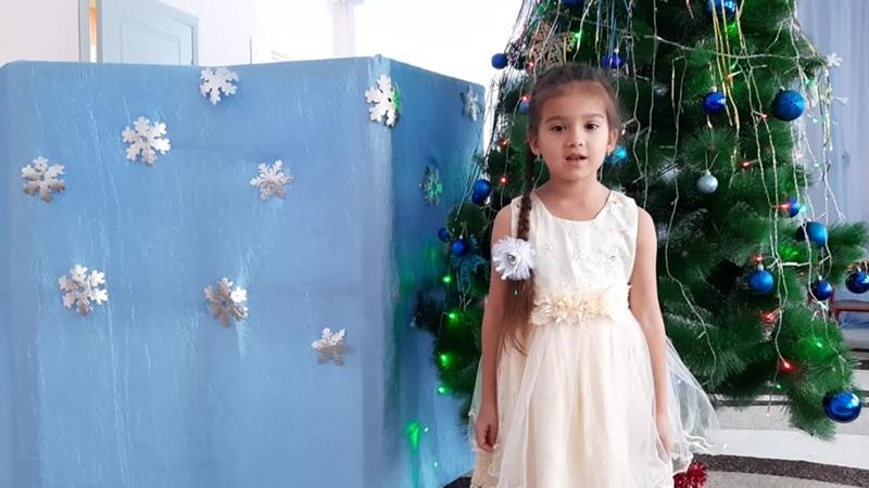 Новогодняя звезда. Забирова Дарина (6 лет), Мамадышский район, поселок совхоза Мамадышский