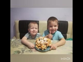 Семья Вагизовых  - Творожные печенья от Даниля и Эмиля