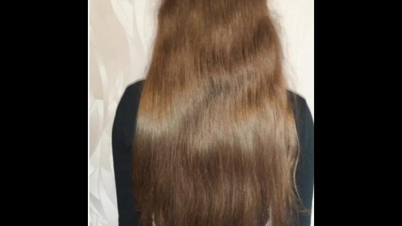Полировка волос ухаживающая стрижка ровный срез в конце процедуры