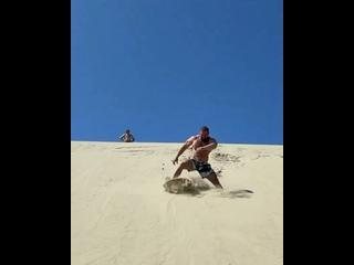 «Русский гигант» на дюнах.