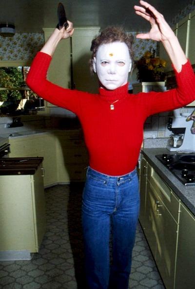 Опасная Джейми Ли Кёртис на съемках «Хэллоуина», 1978 год
