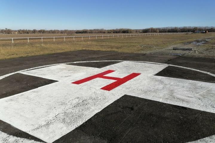 В КЧР появилась первая вертолетная площадка для санавиации
