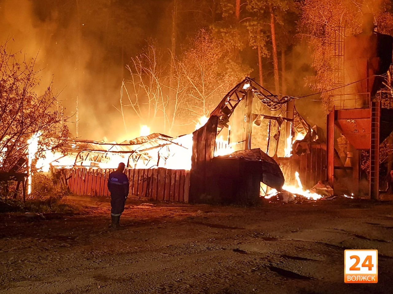 В Мамасево пожар на  «Пилораме»