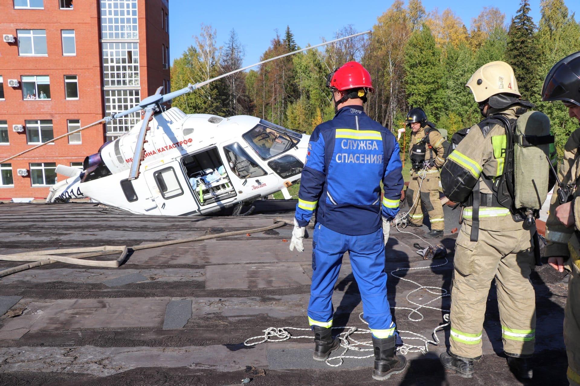 Пациентом, на борту экстренно приземлившегося вертолёта, оказался