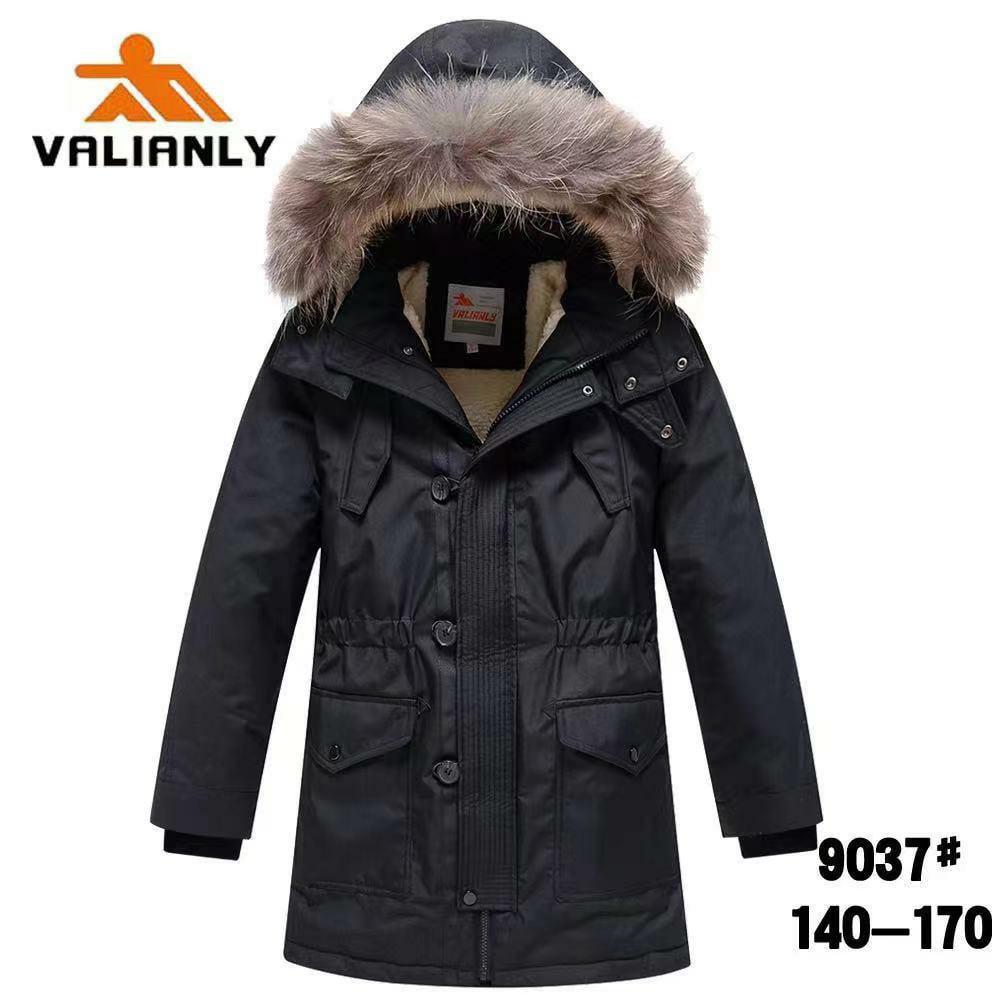 Зимняя парка Valianly 9037 черная