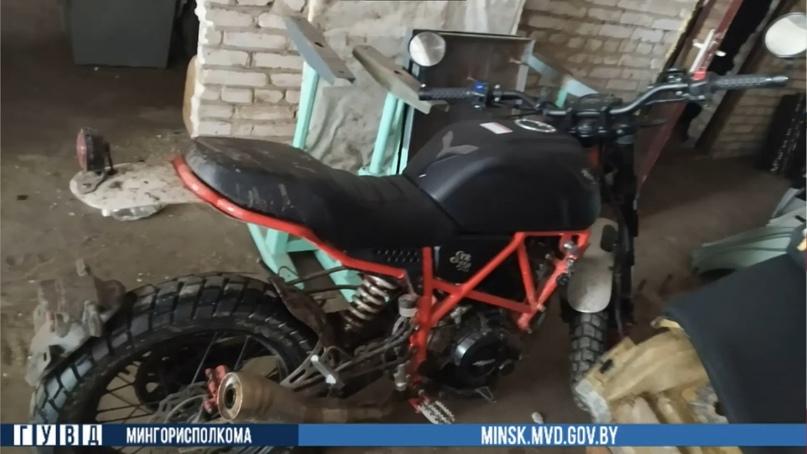 Минчанин угнал мотоцикл и отдал его знакомому в счёт погашения долга