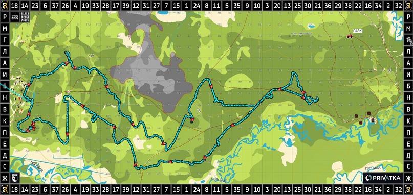 Наш 25-километровый маршрут с выходом через «северный» коридор