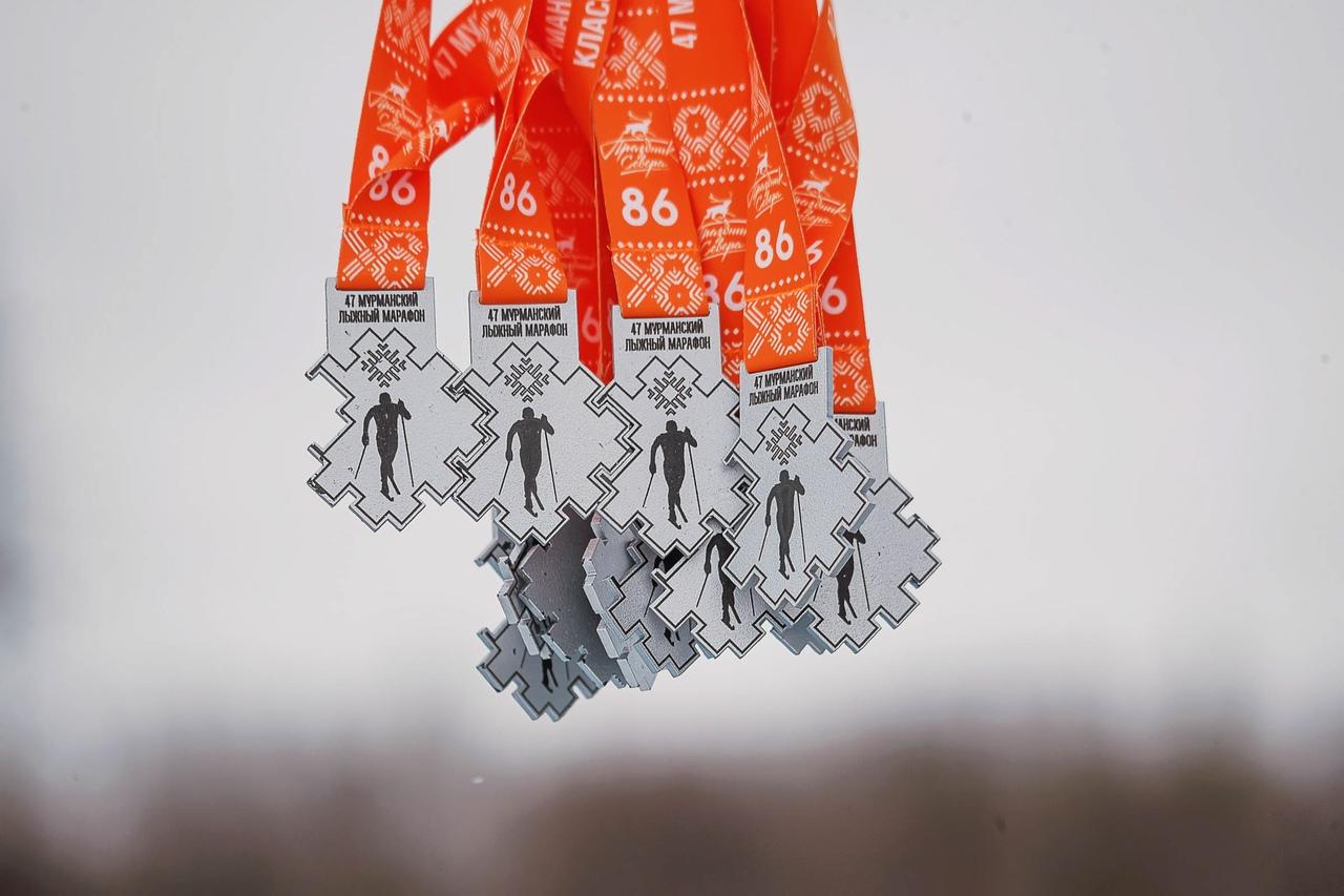 Памятные медали участников марафона