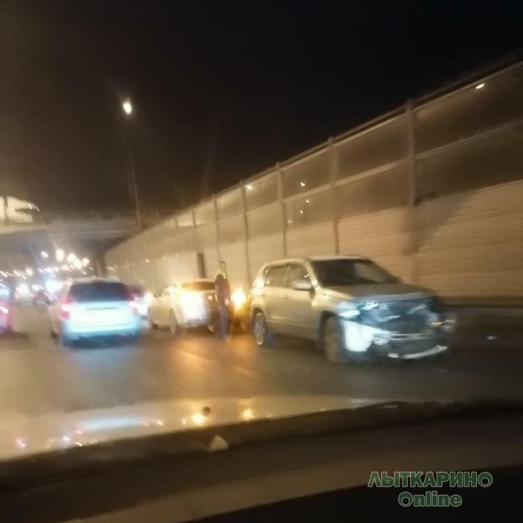 На новой развязке в Лыткарино снова авария.
