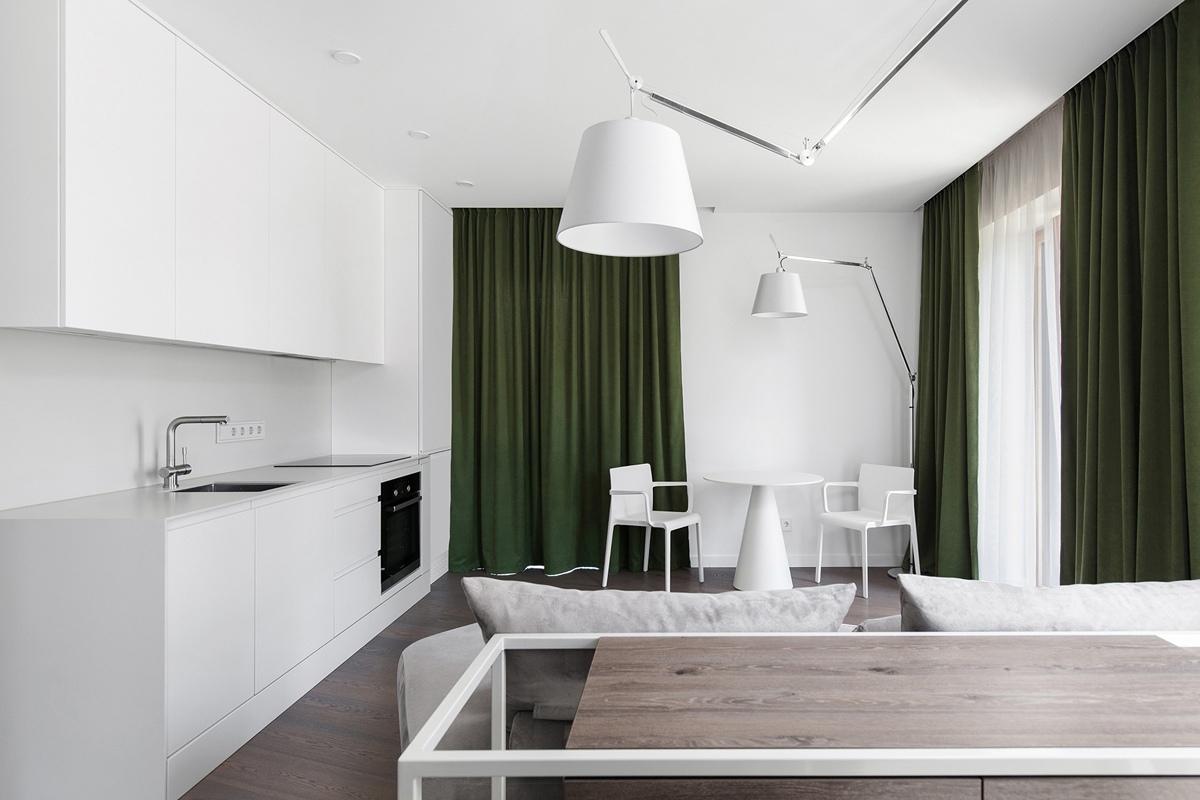 Строгий интерьер квартиры 56 кв.