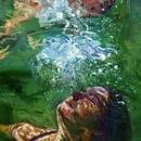 underwater painting of people by houston - 736×736