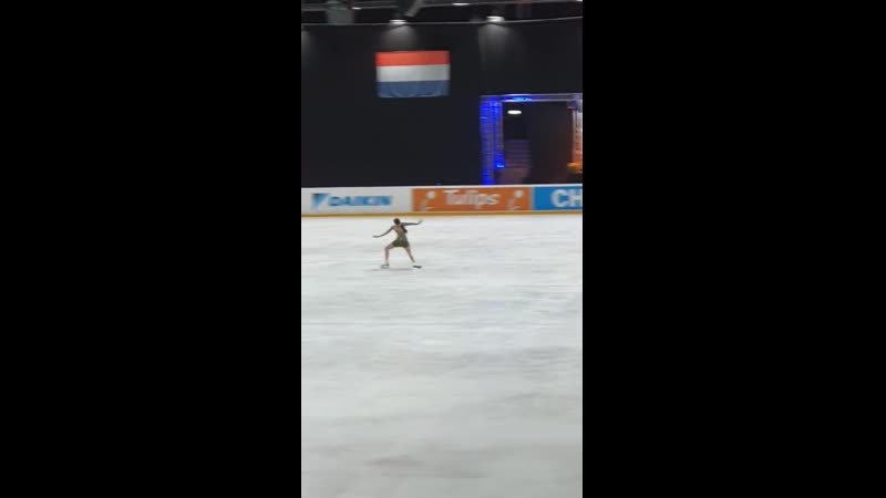 Rika Kihira Challenge Cup FP fancam from Holland Ice Academy