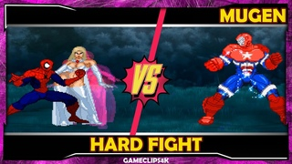 SpiderMan and Emma Frost Vs Iron Patriot [Hard Fight] MUGEN CHAR