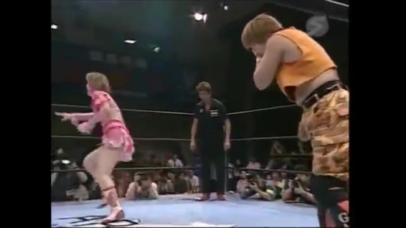 Michiko Omukai, LCO (Etsuko Mita, Mima Shimoda) vs. GAMI, Rie Tamada, Reina Takase (1)