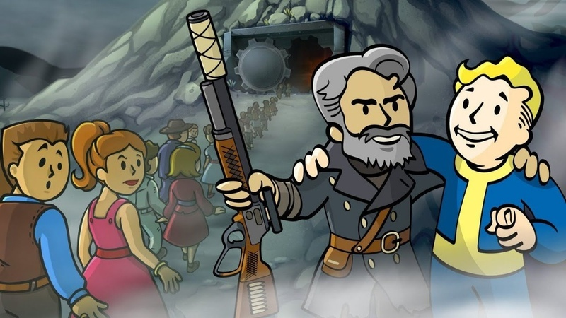 с днём раждение манучар играем в Fallout Shelter разгавариваем