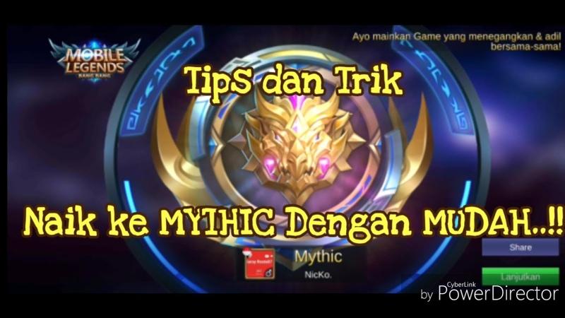 Cara paling ampuh dan gampang buat naikin Rank ke MYTHIC..!! g pake ribet..!!