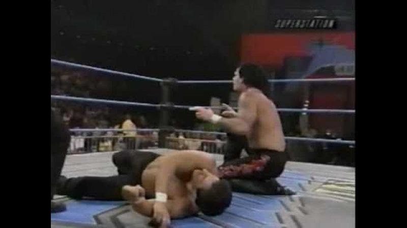 WCW Thunder 2000 03 22 Vampiro vs Disco Inferno Sting helps Vampiro
