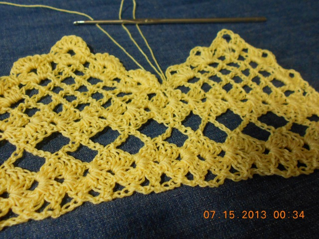 Orilla tejida en Picos parte 1 de 2 Crochet